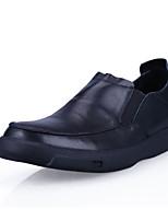 Недорогие -Муж. обувь Кожа Зима Осень Удобная обувь Мокасины и Свитер для Повседневные Черный Коричневый