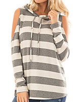 cheap -Women's Cotton T-shirt - Striped