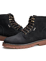 cheap -Men's Shoes Pigskin Winter Fall Combat Boots Comfort Boots Booties/Ankle Boots for Casual Black Gray Khaki
