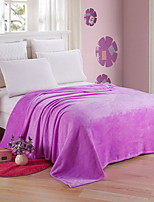 cheap -Coral fleece, Reactive Print Solid Colored Cotton/Polyester Blankets