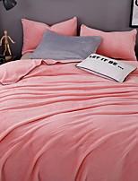 baratos -Velocino de Coral, Impressão Reactiva Sólido Algodão / Poliéster cobertores
