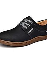 Недорогие -Муж. обувь Бархатистая отделка Весна Осень Удобная обувь Кеды для Повседневные Черный Темно-русый Темно-коричневый Хаки