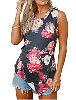 preiswerte -Damen Blumen-Street Schick T-shirt