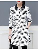 cheap -Women's Cute Cotton Shirt Shirt Collar