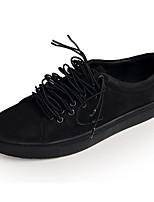 Недорогие -Муж. обувь Кожа Наппа Leather Весна Осень Удобная обувь Кеды для Повседневные Белый Черный