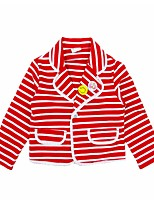 cheap -Girls' Daily Holiday Striped Suit & Blazer, Cotton Polyester Spring Fall Long Sleeves Active White Red
