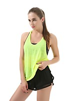 cheap -Women's Running T-Shirt Sleeveless Breathability Tank for Casual Exercise & Fitness Polyester Purple Green Blue Grey S L
