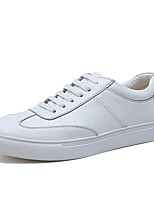 cheap -Men's Shoes Synthetic Spring Fall Comfort Sneakers Satin Flower for Casual White Black