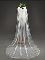cheap -Two-tier Classical Wedding Veil Cathedral Veils 53 Fringe Tulle