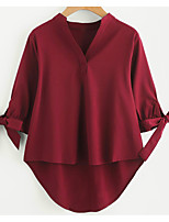 cheap -Women's Simple Shirt - Solid Colored V Neck
