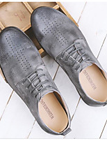 cheap -Men's Shoes Cowhide Spring Fall Comfort Oxfords for Casual Black Gray