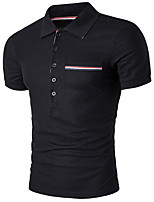 cheap -Men's Business Polo - Solid Colored, Basic Shirt Collar