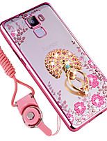 cheap -Case For Huawei Honor 7X Shockproof Rhinestone with Stand Back Cover Flower Soft Silicone for Huawei Honor 7