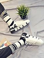 abordables -Homme Chaussures Tissu Hiver Automne Confort Basket pour Décontracté Blanc Noir