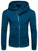 cheap -Men's Basic Street chic Hoodie - Solid Colored