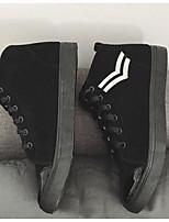 Недорогие -Муж. обувь Полиуретан Весна Осень Удобная обувь Кеды для Повседневные на открытом воздухе Золотой Черный