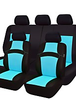 abordables -Couvre Siège de Voiture Couvre-siège Bleu ciel Violet Jaune Rouge Rose Vert Tissu Tricot Fonctionnel for Universel