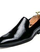 cheap -Men's Shoes PU Patent Leather Leather Spring Summer Light Soles Loafers & Slip-Ons for Casual Party & Evening Gold Black Red