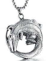 preiswerte -Herrn Anhängerketten - Stahl Titan Freizeit Modisch Cool Kreisform Modische Halsketten Für Alltag Strasse