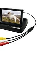 Недорогие -4,3 дюйм Цифровой экран LCD (выше определение чем anolog экран) 480p 1/4 дюймовый CMOS PC7030 Проводное 170° Камера заднего вида