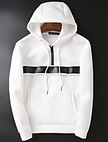 cheap -men's daily solid hooded hoodie regular, long sleeves spring