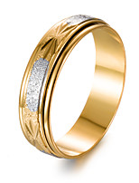 cheap -Men's Gold Plated Band Ring - Circle Fashion Gift Gold Ring For Gift Valentine