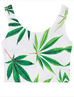 cheap -Women's Cute Cotton Slim Tank Top - Solid Colored, Print