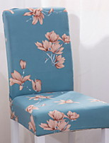 cheap -Contemporary Rustic 100% Polyester Jacquard Chair Cover, Simple Floral Printed Slipcovers