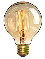 Недорогие -1шт 40 Вт E26/E27 G80 Тёплый белый 2200-2700 К Ретро Диммируемая Декоративная Лампа накаливания Vintage Эдисон лампочка 220-240V