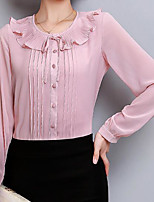cheap -Women's Blouse - Solid, Ruffle