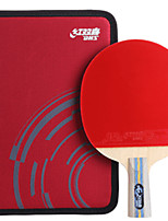 cheap -DHS® E606 Ping Pang/Table Tennis Rackets Wood Rubber 6 Stars Short Handle Pimples