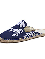 cheap -Women's Shoes Linen Cotton Canvas Summer Fall Espadrilles Comfort Slippers & Flip-Flops Flat Heel Closed Toe Round Toe for Casual Office
