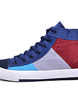 cheap -Men's Shoes Canvas Spring Fall Comfort Sneakers for Casual Dark Blue Coffee Blue