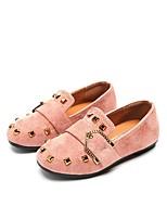 abordables -Fille Chaussures Polyuréthane Cuir Printemps Eté Confort Ballerines Rivet pour Décontracté Habillé Noir Rose