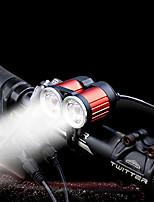 preiswerte -Fahrradrücklicht Fahrradlicht LED LED Radsport Mit Switch (es) Wiederaufladbare Li-Ion Batterie 1600 Lumen Wiederaufladbarer Akku Weiß