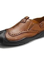 Недорогие -Муж. обувь Наппа Leather Весна Осень Удобная обувь Мокасины и Свитер для Повседневные Офис и карьера Коричневый Хаки