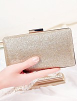 cheap -Women's Bags Polyester Evening Bag Buttons for Wedding Event/Party All Seasons Champagne