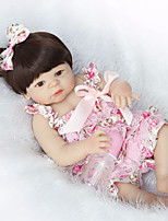 cheap -NPK DOLL Reborn Doll Baby 22inch Silicone / Vinyl - Natural Skin Tone, Floppy Head, Tipped and Sealed Nails Unisex Kid's Gift