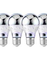 baratos -YouOKLight 4pçs 4W 320 lm E26/E27 Lâmpada Redonda LED 25 leds SMD 2835 Fogo de artifício 3D Decorativa Branco Frio RGB 85-265V
