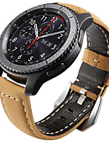 cheap -Watch Band for Gear S3 Frontier Gear S3 Classic Samsung Galaxy Classic Buckle Leather Wrist Strap