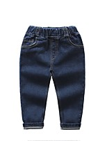 cheap -Boys' Daily Solid Jeans, Spandex Spring Fall Simple Blue