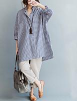 abordables -Tee-shirt Femme, Couleur Pleine - Coton Dentelle Manche Tulipe