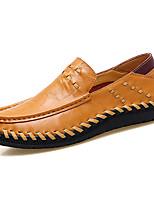 Недорогие -Муж. обувь Кожа Наппа Leather Весна Осень Обувь для дайвинга Удобная обувь Мокасины и Свитер Для прогулок для Повседневные Черный