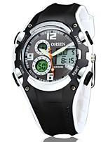 Недорогие -OHSEN Муж. Спортивные часы Китайский Цифровой Защита от влаги Ударопрочный Pезина Группа Cool Черный