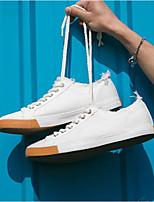 Недорогие -Муж. обувь Полотно Лето Удобная обувь Кеды для Повседневные Белый Черный Хаки