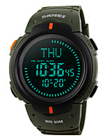 cheap -SKMEI Men's Digital Military Watch Sport Watch Alarm Calendar / date / day Water Resistant / Water Proof Stopwatch Compass Rubber Band
