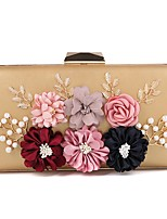 cheap -Women's Bags PU Evening Bag Crystal Detailing Pearl Detailing Flower for Wedding Event/Party All Seasons Gold Black Silver Blushing Pink