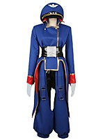 cheap -Inspired by Macross Frontier Cosplay Anime Cosplay Costumes Cosplay Suits Other Long Sleeves Coat Pants Belt More Accessories Hat For