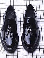 Недорогие -Муж. обувь Искусственное волокно Осень Зима Удобная обувь Мокасины и Свитер для Повседневные Черный