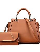 cheap -Women's Bags PU Bag Set 2 Pieces Purse Set Zipper for Shopping Casual All Seasons Blue Black Red Brown